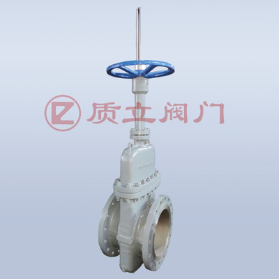 Flat gate valve without diversion hole