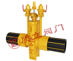 Flat gas gate valve with PE pipe